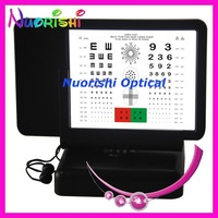 W3001 Double side Reading Led Illuminated Vision Chart Tumbling E and Numbers Back With Amsler Grid 40cm Visual Acuity Chart