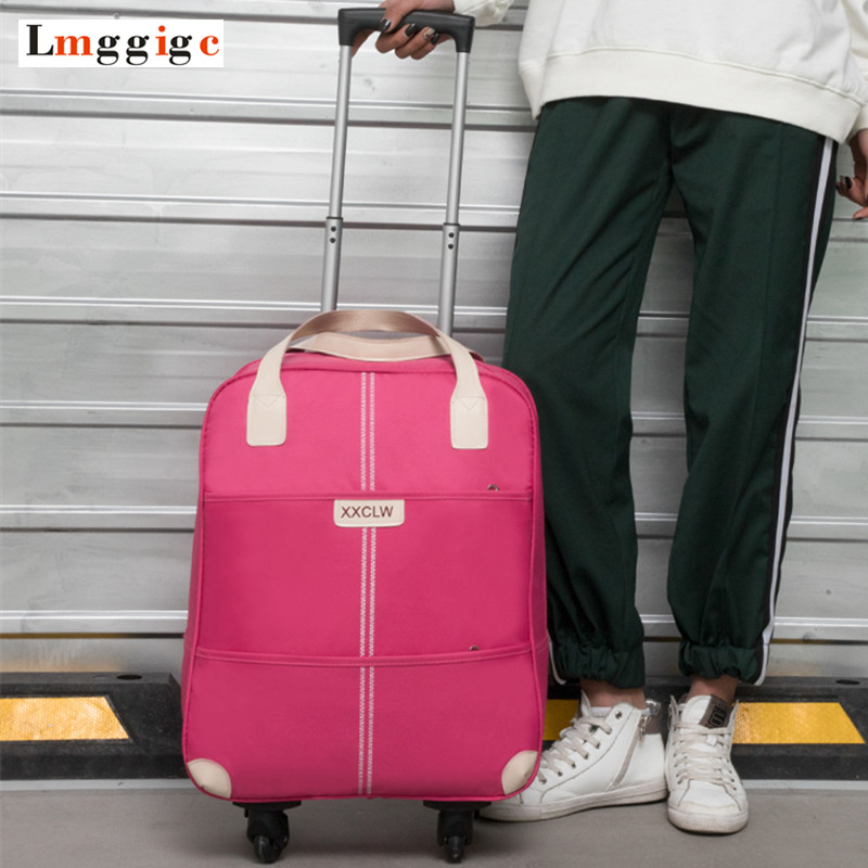 High capacity Rolling Luggage ,Cabin Travel Suitcase Bag, Trolley Case with Nniversal wheel Carry-On, soft Oxford cloth box rolling luggage cabin bag 18 inch suitcase with wheel pu trolley case with lock colorful carry on travel box with laptop bag
