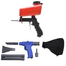 2 in 1 Portable (Air Vacuum Blower Suction Gun + Airbrush ) Set Spray Gun Sand-blasting with Accessorries Tool / Red power tool highpro hi r 2 in 1 hippocampus lens pen air blower black red
