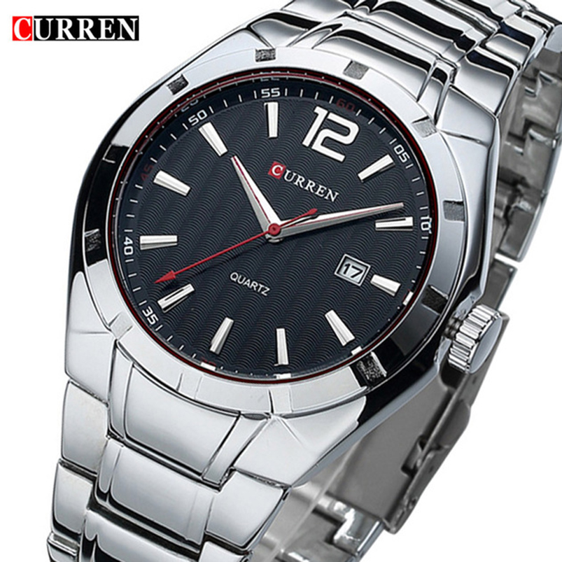 2018 Top Brand CURREN Men Watches Luxury Stainless Steel Strap Wrist Watches Fashion Sports Watch Waterproof Relogio Masculino
