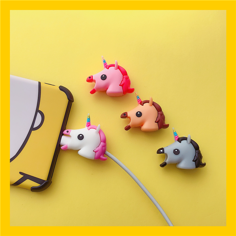 Cute Unicorn Cartoon <font><b>Cable</b></font> protector for iphone usb <font><b>cable</b></font> holder charger wire <font><b>organizer</b></font> Animel <font><b>Cable</b></font> Winder phone accessories image