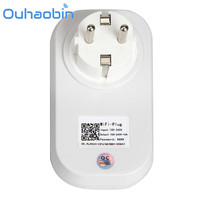 Ouhaobin Wifi Cell Phone Wireless Remote Control Switch Timer Smart Power Socket EU Plug Gift Oct