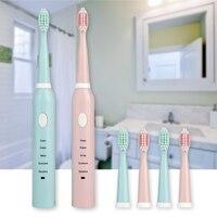 فرشاة الأسنان الكهربائية سونيك مقاوم للماء المحمولة USB قابلة للشحن فرشاة السفر الكبار الأسنان الكهربائية البيضاء عالية الجودة D40