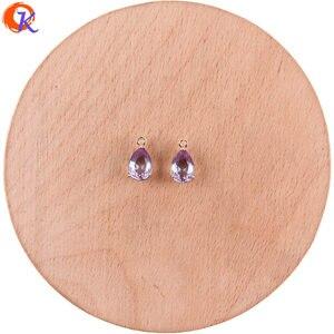 Image 5 - Cordial Design 50 sztuk 7*13MM biżuteria akcesoria/Hand Made/DIY Making/upuść kształt/Charms biżuteria/kryształ wisiorek/kolczyki ustalenia