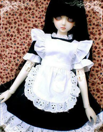 [wamami] 220# Black Maid Dress/Apron/Suit For 1/3 SD AOD DZ BJD Dollfie[wamami] 220# Black Maid Dress/Apron/Suit For 1/3 SD AOD DZ BJD Dollfie