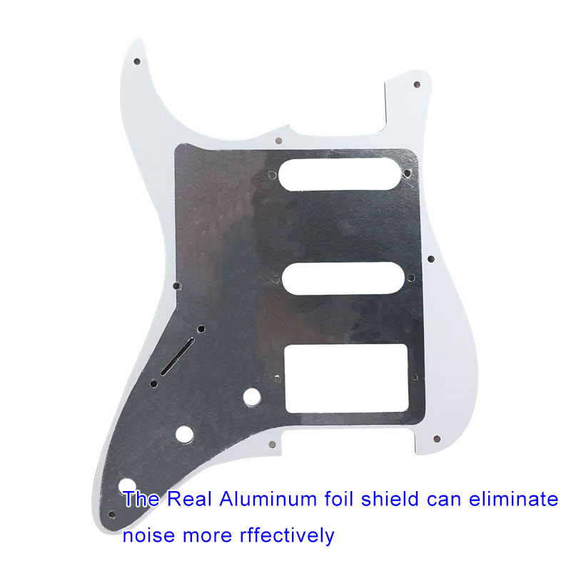 Купить с кэшбэком Guitar Parts For US 57 Year 8 Screw Holes Stratocaster Guitar Pickguard With Bridge PAF Humbucker Single HSS Scratch Plate