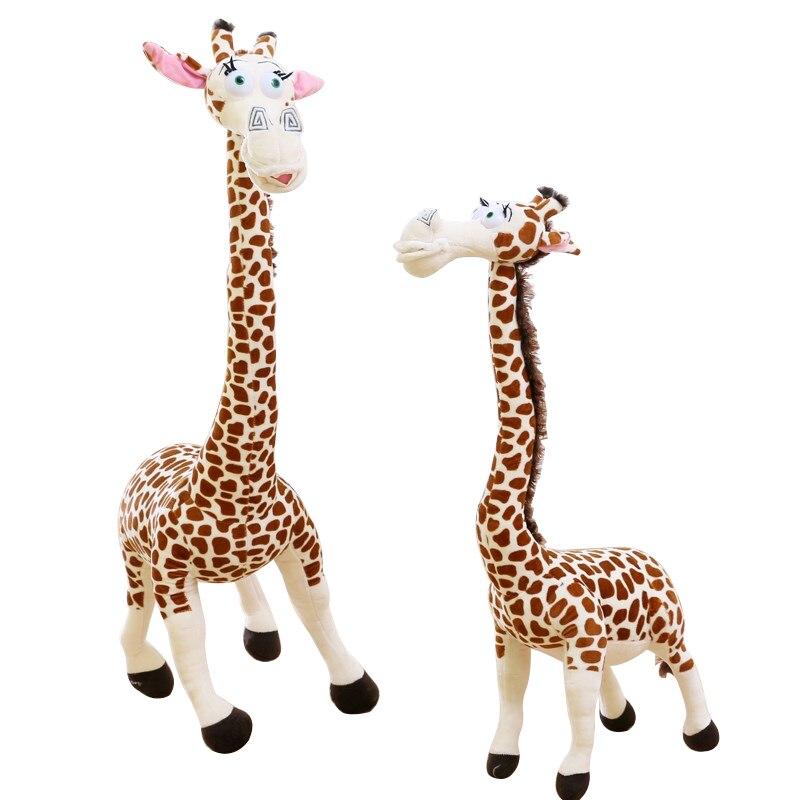 1pcs big 45CM Long Neck Giraffe Stuffed Plush Toy Madagascar 3 Cute Deer Doll for Kids High QUality madagascar penguins plush 1 pcs set 15 18 cm europe s most wanted madagascar plush toy