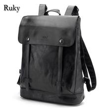 2016 Hot Sell Leisure High Quality Men Backpacks Fashion High Grade Leather Designer Backpack Men's Schoolbag Travel Laptop Bag