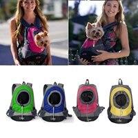 Pet Carrier Breathable Double Shoulder Dog Pet Puppy Bags Backpack Cat Carrier Pet Holder Bag For