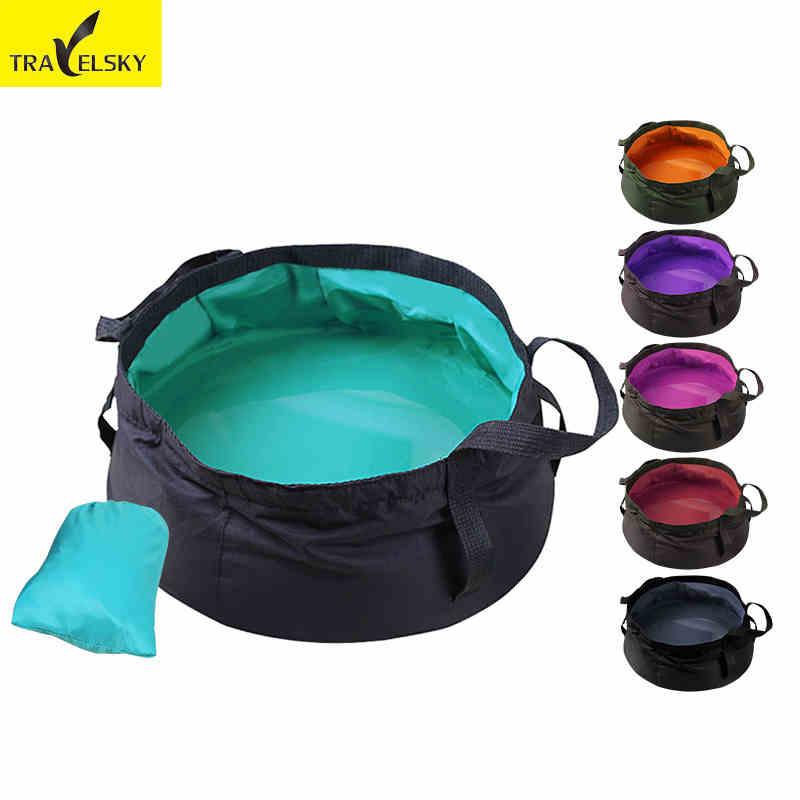 Folding Basin Portable Travel Bag Footbath Lightweight  Mounte Hot Water Get Pouch Bilayer Structure Heat 90 Celsius