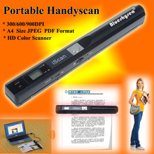 Iscan01 Portable A4 Document Scanner HD 900DPI USB 2.0 High Speed Document Scanner A4 Size JPEG/PDF Image Handheld A4 Scanner
