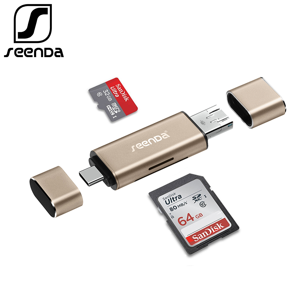 SeenDa All In 1 USB 2.0 Smart Card Reader High Speed TF Micro SD Card Reader OTG Type C Memory Card Reader Micro USB SD Adapter кружка loraine love 340 мл 25973 page 9