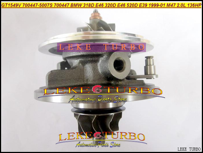 Turbo Cartridge Chra GT1549V 700447-0003 700447-0005 700447-0004 11652248905 700447 For BMW 318D 320D E46 520D E39 99- M47 2.0L gt2556s 711736 711736 0003 711736 0010 711736 0016 711736 0026 2674a226 2674a227 turbo for perkin massey 5455 4 4l 420d it