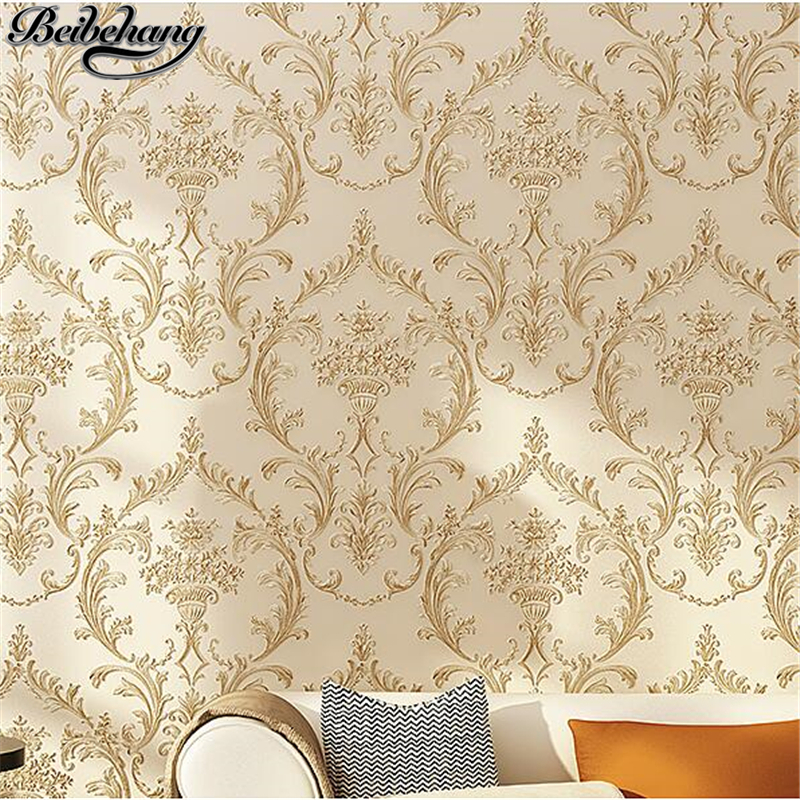 beibehang European - style high - grade bedroom non - woven wallpaper living room television wall wallpaper papel de parede beibehang floral non woven flocking wallpaper for bedroom living room girls room home decoration wall paper papel parede