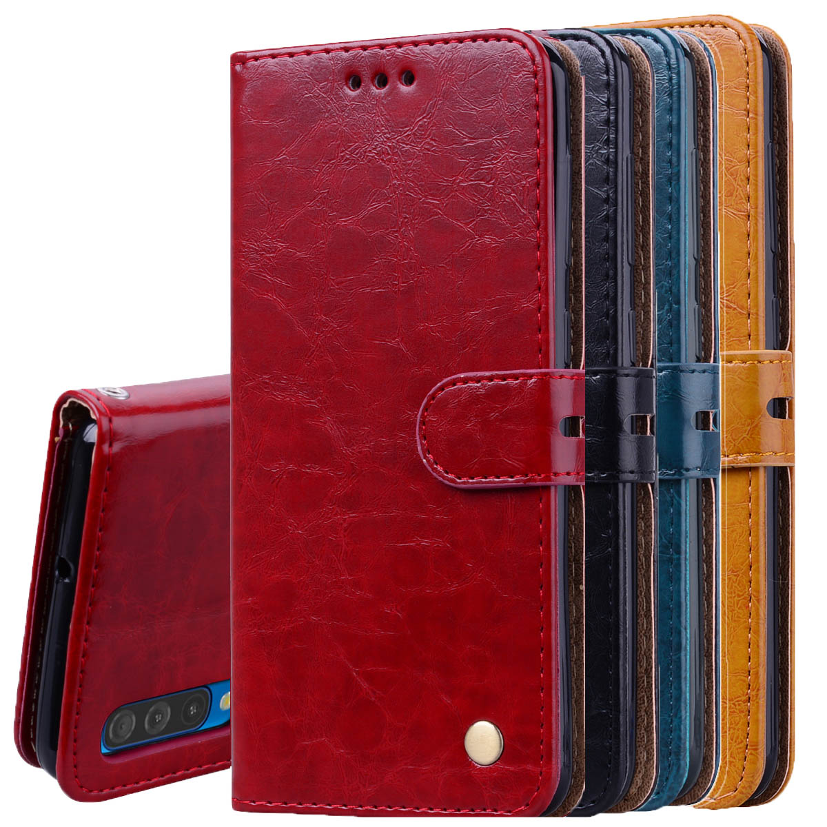 Leather Wallet Case For Samsung Galaxy M30 M20 M10 A70 A50 A40 A30 A20 A10 2019 on A9 A8 A6 A7 J4 J6 J8 2018 S10 S9 S8 Plus S10e