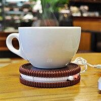 USB-POWERED uk كوكي تصميم إبقاء أدفأ كأس الإبداعية كأس حصيرة وسادات شرب الشاي القهوة العزل كوستر سخان شيبمنت مجانا