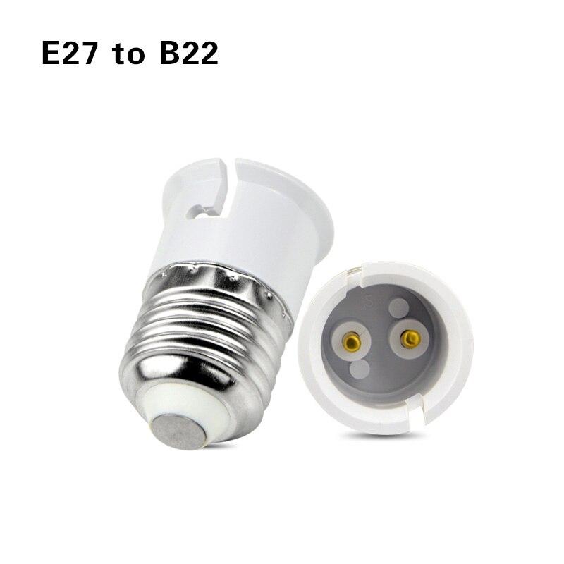 Led основание лампы конверсионный держатель конвертер гнездо адаптер GU10 G9 B22 E27 E14 E12 огнеупорный материал для дома светильник и lightitng - Цвет: E27 to B22