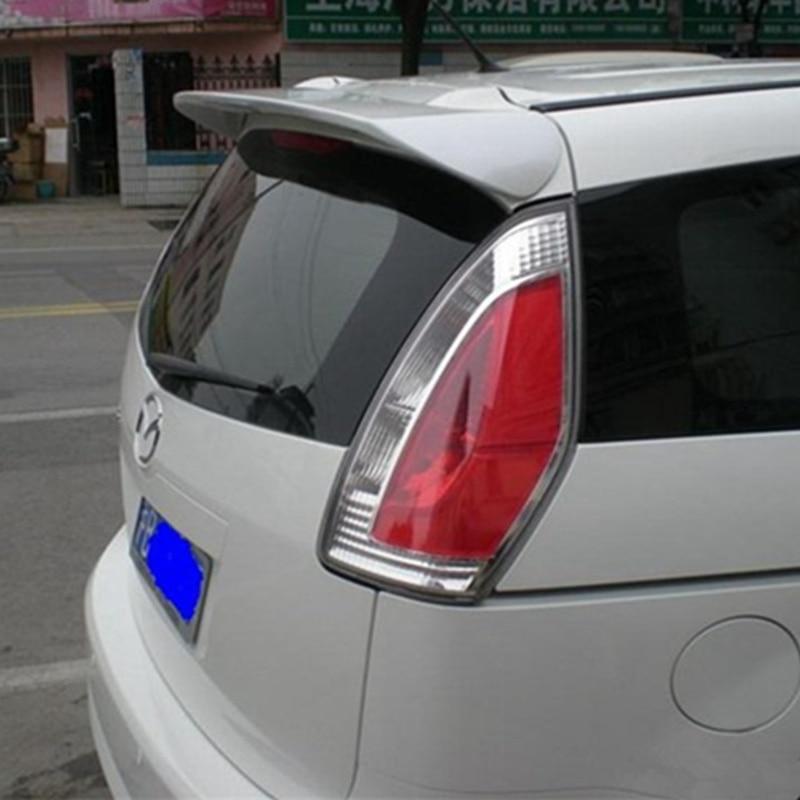 For Mazda 5 Spoiler High Quality ABS Material Car Rear Wing Primer Color Rear Spoiler For Mazda 5 Spoiler 2005-2010