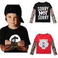 Artishare 1-7 Years Spring Baby Boys Shirt Long Sleeve Tattoo Kids Shirts Children Clothes Boys Tops O Neck Boys Clothes
