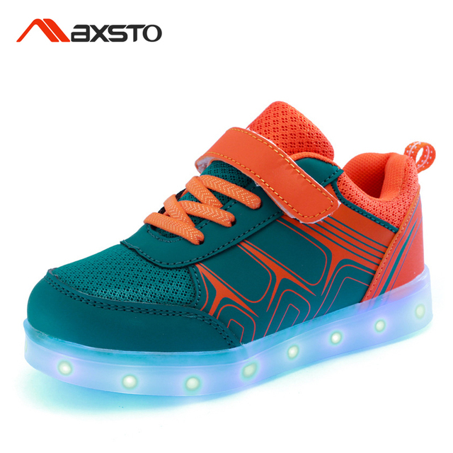 Children Shoes With Light USB Charging Boys Girls LED Lights Up Shoes Kids Luminous Sport Glowing Sneakers Kids Led Glow Shoes