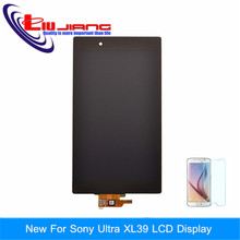 100% Original LCD Display For Sony Xperia Z Ultra XL39h XL39 C6802 C6833 LCD Screen Digitizer Assembly Black Free shipping+Gift
