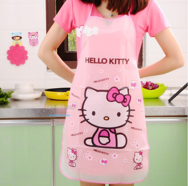 Hello Kitty Kitchen Accessories: Apron Funny Kitchen Aprons Kawaii Hello Kitty Waterproof