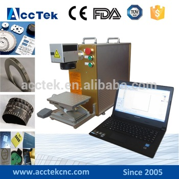 AK20F Desktop Factory Price Carriable Or Portable 20w Fiber Laser Marking Machine For Metal Marking For Sale