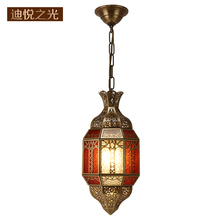 Arab bronze  pendant lamp manufacturer direct copper vintage chandelier lighting wholesale price led e14