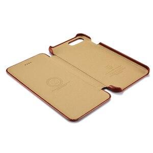 Image 3 - Icarer couro genuíno de luxo casos originais do telefone móvel para apple iphone 7 8/plus borda completa fechado proteção da aleta caso capa