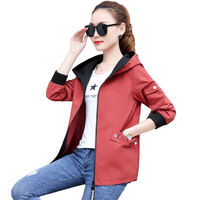 Jackets Women Spring Autumn Jacket Women's Hooded Female Jacket Fashion Long Sleeve Windbreaker Outerwear Womens NW1320