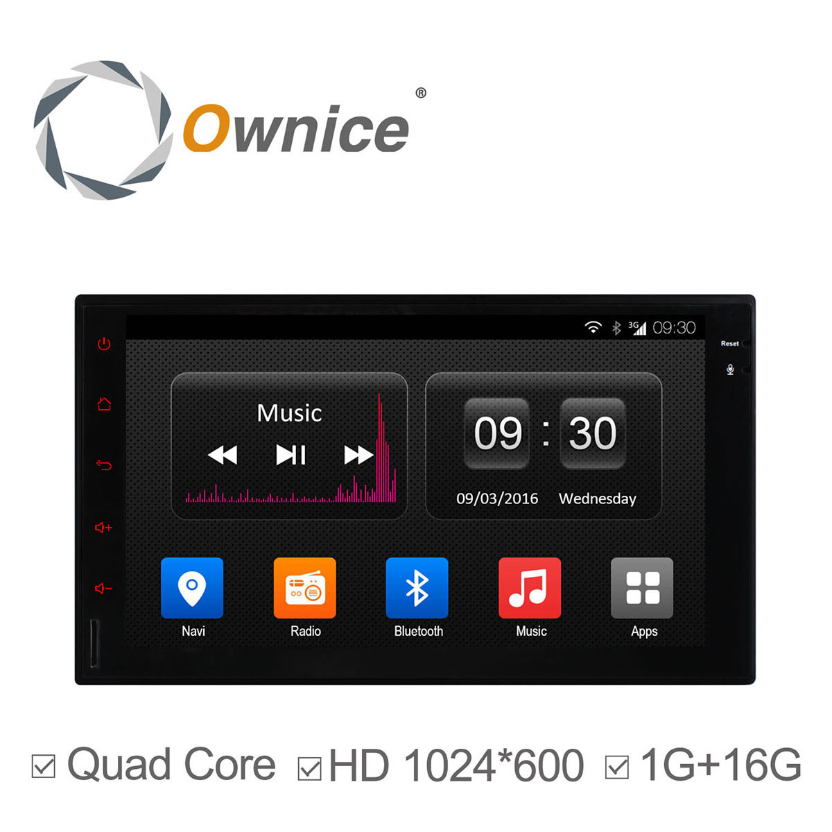 1024*600 7'' Universal Android 4.4 Quad Core for Car Radio 2 Din GPS Multi-media 16G ROM support 3G Mirror link ipod TPMS DAB+