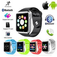 Herren Armbanduhr A1 Bluetooth Smart Uhr Sport Pedometer mit SIM Kamera Smartwatch für iphone Samsung Smartwatch