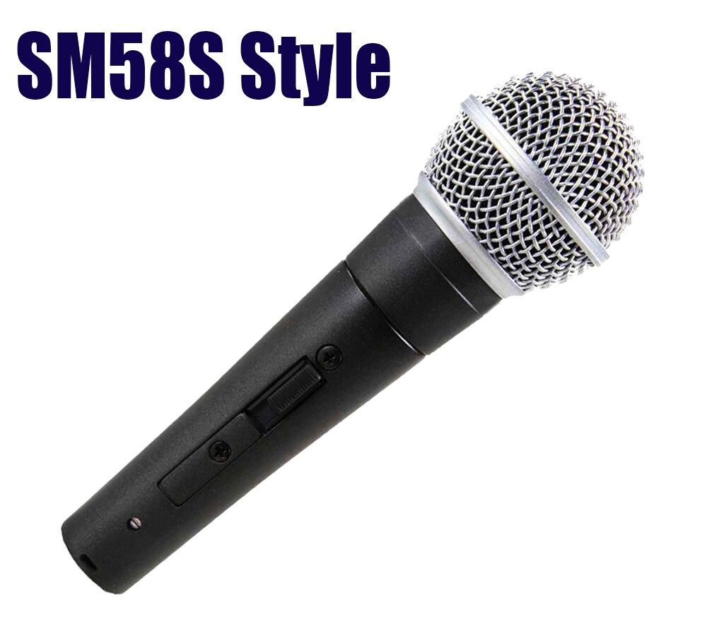 SM clásico 58 57 tradicional sm58sk wired handheld karaoke cantando micrófono dinámico con interruptor