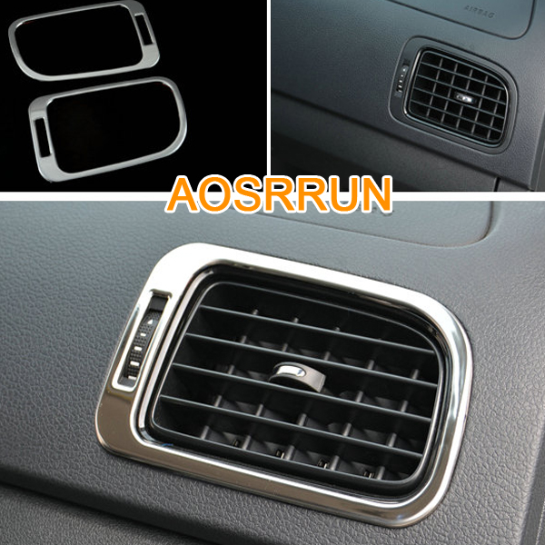 AOSRRUN, нержавеющая сталь, крышка для кондиционера, автомобильные аксессуары, автостайлинг для Фольксваген Поло 2011- 6R