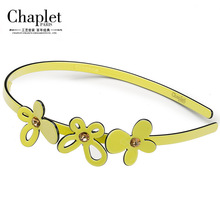 Chaplet 2016 High Quality Girls Hair Accessories Rhinestone Butterfly Hairbands Ladies Solid Hairband Hair jewelry Free Shipping
