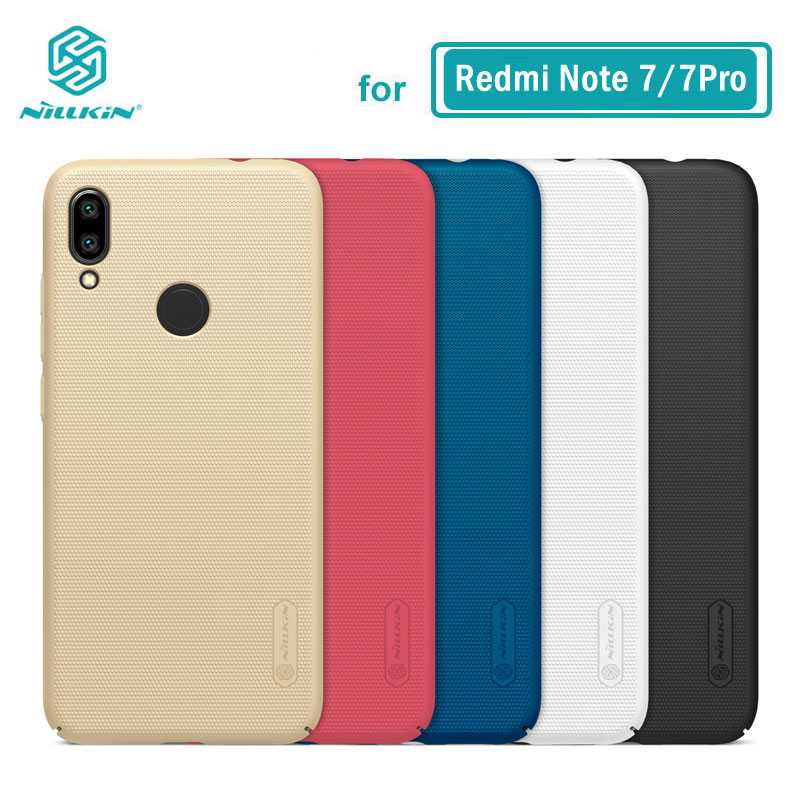 Redmi Note 7 Case Casing Nillkin Frosted PC Hard Back Cover Case For Xiaomi Redmi Note 7 Pro 7S 6.3''