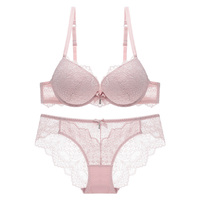 AMX New 2018 Women Lace Bra And Panty Sexy Push Up Bras Sets Ladies ABC Cup