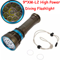 90W 3-Mode 18000 Lumen CREE XM-L2 9 x L2 LED Diving Flashlight Torch 200M Underwater Waterproof LED Flash Light Lantern