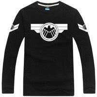 [XHTWCY] Free shipping Captain America tshirt long sleeve t shirt Agents of S.H.I.E.L.D. t shirt Marvel tee t shirt