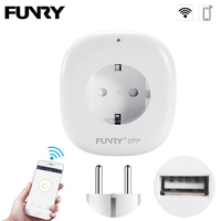 FUNRY Wifi Socket Smart EU USB Port Power Socket Plug 220V 10A Wireless Phone APP Control for Smart Home IOS Android