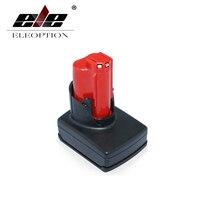 ELEOPTION Oplaadbare Power Tool batterij voor Milwaukee M12 XC Ion batterij 12 V 3000mA 48-11-2401, 48-11-2402, C12 B, C12 BX