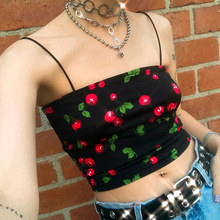 2019 Crop Top Women Camis Halter Top Women Camisole  Summer Sexy Sleeveless Slim Cord Bottom tops harajuku streetwear halter top pineapple print crop halter top