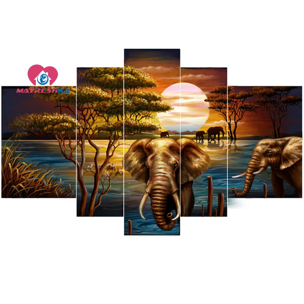 Diamond embroidery landscape nature 5d diy diamond painting Pictures of rhinestones Cross stitch kits Picture modular