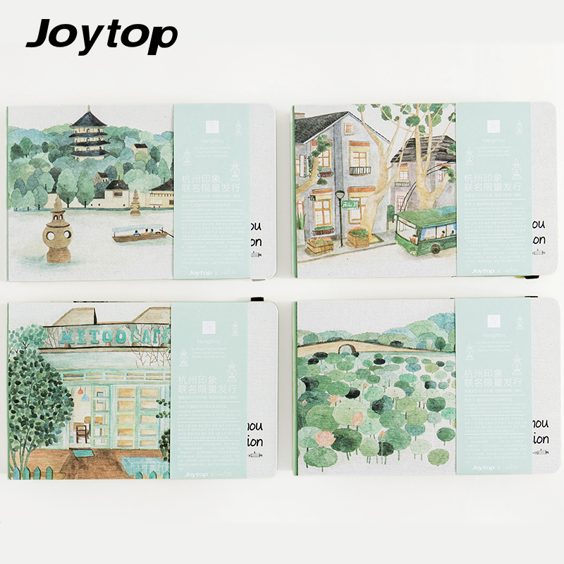 Joytop Sketchbook Cities Impression Series Notebook a5 Gift Book Vintage Hardcover Creative Pastel Drawing Diary Limited Edition планшет impression impad 1003