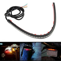 Flexible 36SMD LED Motorcycle Universal Turn Signal Tail Brake License Plate Light Strip For Integrated Auto