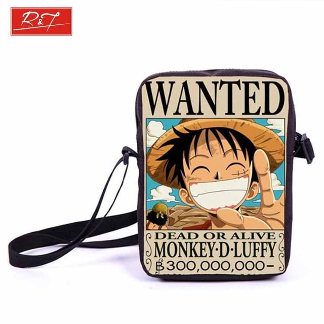 Anime One Piece / Naruto Crossbody Messenger Bag