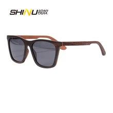 2017 Nuevo Diseñador de Moda Polarizado Gafas de Sol de Madera Plaza Llena Marco De Madera gafas de Sol Gafas De Sol Hombre Gafas de Conducción