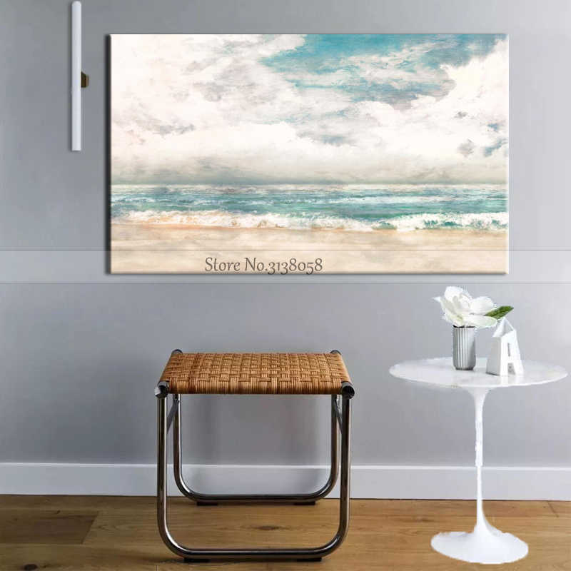 Best Artist Hand-painted Good Quality Abstract Landscape Oil Painting On Canvas Handmade Abstract Sea And Sky Oil Paintings
