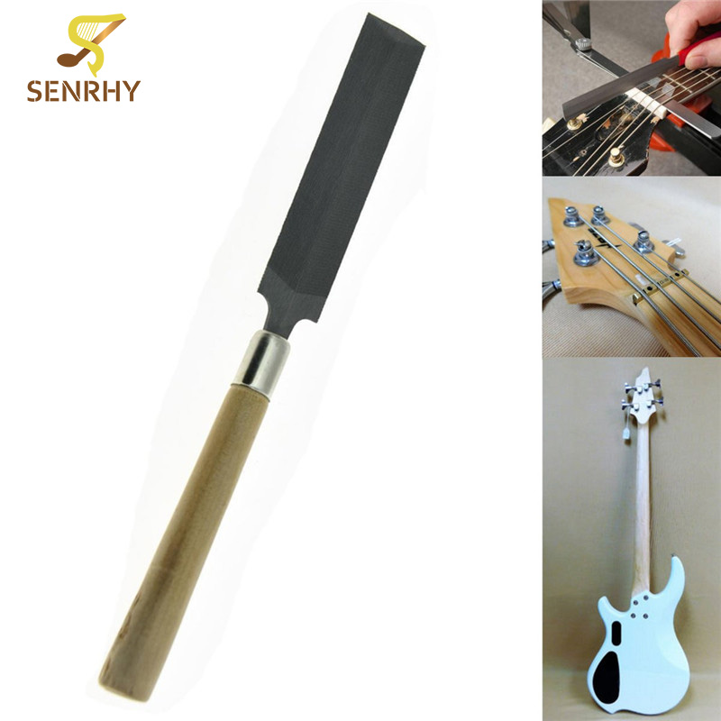 Senrhy Guitar Bass Nut File Luthier Tool Nut Saddle Slot Filing Repair Tools Musical Instruments Guitar Parts & Accessories belcat bass pickup 5 string humbucker double coil pickup guitar parts accessories black