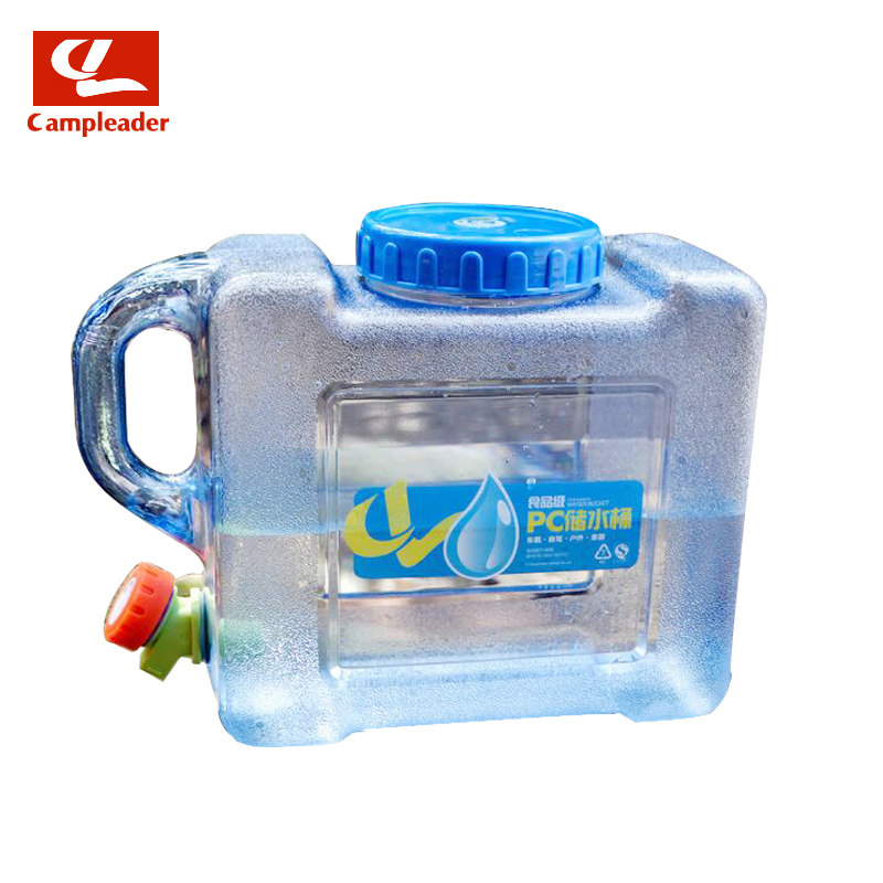 Campleader 5L PC Water Bucket Outdoor Camping Car Durable Hiking Picnic Handy Collapsible Water Bottle Container CL130 цена 2017